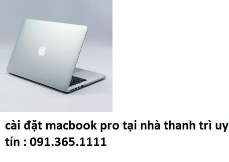 cài đặt macbook pro tại thanh trì